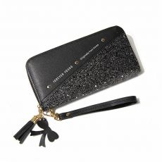 Patchwork Glitter Wallet for Women Long PU Leather Coin Purse Female Girls Gifts