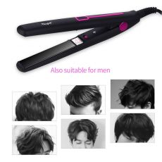 Mini Professional 2 in 1 Portable Hair Curler Hair Straightener Flat Iron Hairs Straightening Corrugated Iron Styling Tools 48
