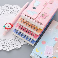 Yisuremia 80 Sheets Kawaii Cute Loose-Leaf Vocabulary Word Book Pocket English Memory Study Notebook Japanese School Stationery
