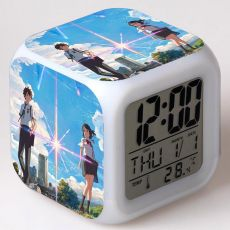 LED Alarm Clock Colorful Flash Night Light Your Name Anime action & toy figures