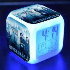 Popular Riverdale TV Figures LED Clock Alarm Colorful Flash Light Desk Watch Toys