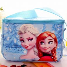 Frozen Cartoon Ice Backpack New Student Lunch Box Bag Shoulder Picnic Bag Toys For Children Kids Disney Elsa Princess Warm Bags
