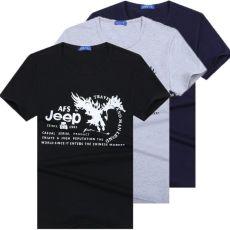 New Men's Crew Neck T-Shirt Tee Short Sleeve Black  Gray Blue & White