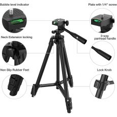 Flexible Tripod Extendable Travel Lightweight Stand Bluetooth Remote For Mobile Cell Phone