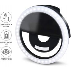 Selfie LED Ring Lamp, Portable Clip-on Selfie Fill Light for Phone/Android Smart Phone & Photography/ Camera Video/ Makes up