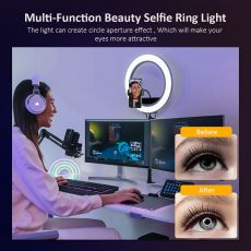 Selfie Ring Light ,LED Ring Light with Tripod Stand, Beauty Ring light for Makeup/Live Stream