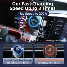 Wireless Charger Car Mount Intelligent Infrared for Air Vent Mount Car Charger Wireless