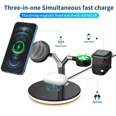 3 in 1 Magnetic Wireless Charger Stand For Magsafe iPhone 12 Mini Pro Max/Apple Watch Fast Charging