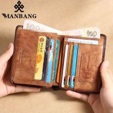 Men Wallet Small Mini Card Holder Male Wallet Pocket Retro purse High Quality