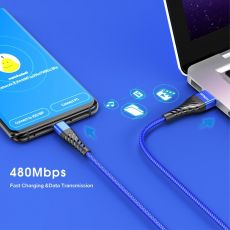 Fast Charging Type C USB Cable For Samsung S10 Xiaomi Redmi Note 7 Type C Mobile