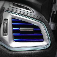10Pcs 20cm Universal  Car Air Conditioner Outlet Decorative U Shape Moulding Trim Strips Decor Car Styling