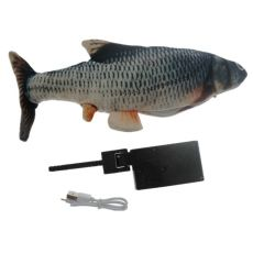 Fish USB Electric Charging Simulation Dancing Jumping Moving Floppy Fish Cat Toy Electronic