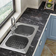 Kitchen Oil Proof Sticker Marble Pattern Wall Sticker Waterproof High Temperature Living