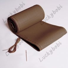 Car Steering Wheel Braid Cover Needles And Thread Artificial Leather Car Covers Suite 7 Color DIY Texture