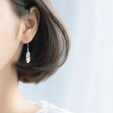 Short Creative 925 Sterling Silver Temperament Personality Trendy Female Dangle Earrings