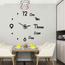 Clock Watch Large Wall Clocks 3d Diy Acrylic Mirror Mechanism Stickers Home Living Room Decoration