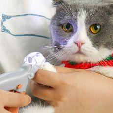 Professional Pet Nail Clipper Scissors Pet Dog Cat Nail Toe Claw Clippers Scissor LED Light