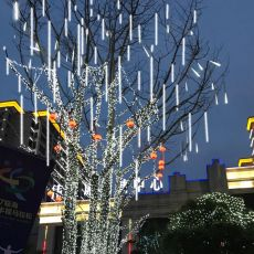 Solar LED light outdoor Waterproof Fairy Meteor Shower lights String Garland 144 LEDs