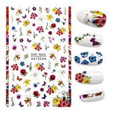 3D Nail Sticker cute cartoon stickers for nail Foil Flowers  Design Nails Accessories Fashion