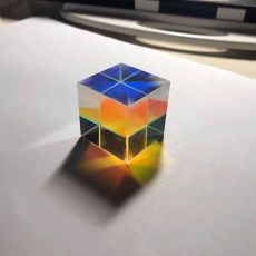 X cubic prism optical glass square prism RGB combiner separator party home decoration