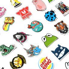 50 PCs Cool Random Stickers for Laptop Luggage Water Bottle Car Bike Motorcycle Kids