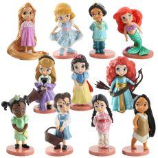 Action Figures Toys Rapunzel Snow Cinderella White Snow Fairy Rapunzel Doll Decoration