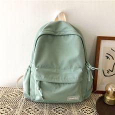 School backpack Large Solid Color Girls Travel Bag College Schoolbag Female Laptop Back