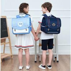 Schoolbag Quality Leather Kids Backpack 2 Sizes Large Capacity Boys Backpacks Back