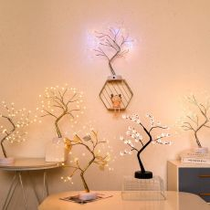 LED Night Light Mini Christmas Tree Copper Wire Garland Lamp For Home Kids Bedroom