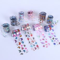 Nail Art Decal Flowers Adhesive Tropic Starry Nail Decoration Accessories Wraps