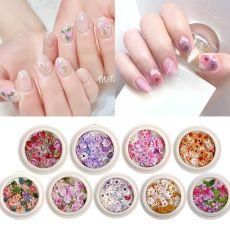 Nail art decorations Nail accessories Daisy flowers and leaves  Mixed nail pastes
