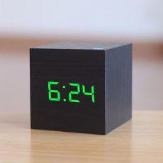 New Qualified Digital Wooden LED Alarm Clock Wood Retro Glow Clock Desktop Table Decor