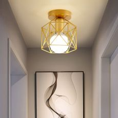 Gold Shade home decoration ceiling lights Metal Household Accessories ceiling Lamp