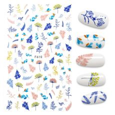 The New 3D Nail Stickers Flower butterfly stickers for nail Foil Love Heart Design Nails Accessories