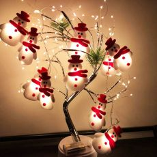 Christmas Tree LED String Lights Garland Snowflakes Christmas Decoration for Home Fairy Light