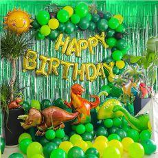 97pcs Dinosaur Birthday Party Decoration Balloons Arch Garland Kit Happy Birthday Balloons