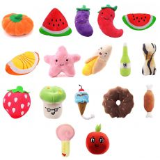 Animals Cartoon Dog Toys Stuffed Squeaking Pet Toy Cute Plush Puzzle For Dogs Cat Chew Squeaker