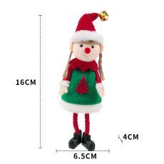 Christmas Elf Doll Ornaments Xmas Tree Hanging Pendant Santa Kids Gift Christmas