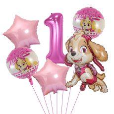 Paw Patrol Dog Balloon Chase Skye Marshall Boy Girl Birthday Party Decoration Aluminum Film Balloon Children