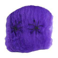 2pcs Halloween Decoration Spider Cotton Thread Spider Web Props Party Props Decor Haunted