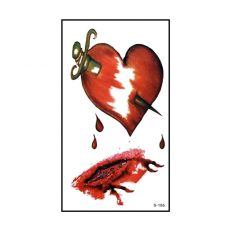 6pcs Halloween Bloody Wound Tattoo Stickers Trick Scary Waterproof Temporary Tattoo