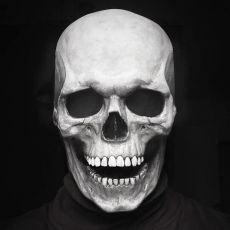 Halloween Mask Movable Jaw Full Head Skull Mask Halloween Decoration Horror Scary Mask