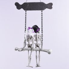 Halloween Ornament Bride and Groom Skeleton Hanging Decoration Haunted House Decor