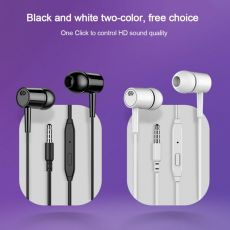 3.5MM In-ear Wired Earphone With Mic Earbuds Headset For Mobile Phone Computer Laptop Tablet Headphone 2 Colors