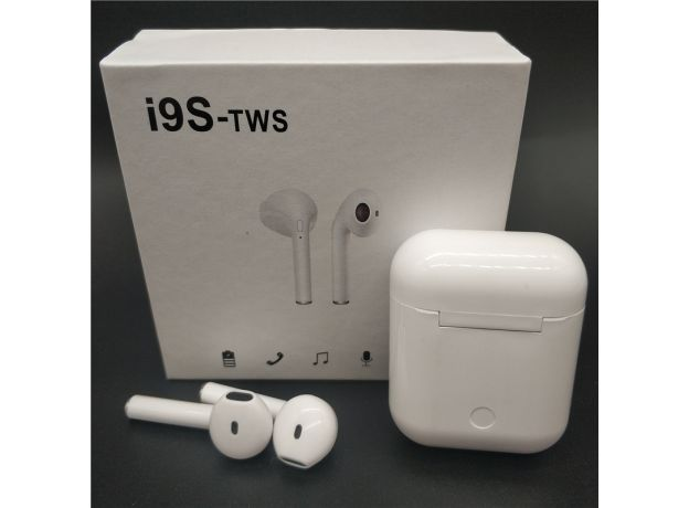 I9s TWS Wireless In-Ear Earphone White ,Noise Reduction 3D Bass Stereo Earbuds For iPhone Android