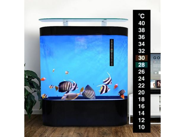 LCD 3D Crystal Digital Electronic Aquarium Fish Tank Thermometer Temp Meter Fridge Temperature Sticker Dual Scale Stick-on Parts