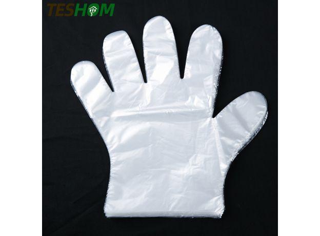 1000 pcs Disposable Gloves One-off Plastic Gloves Restaurant BBQ Transparent Eco-friendly PE Gloves Kitchen Garden Accessories