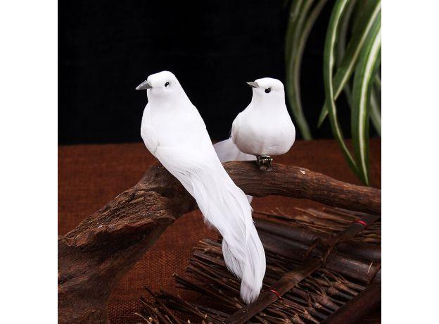 2PCS Simulation Pigeons Imitation Bird Statue Molds Home  Yard Ornament Decoration for Lawn Figurine Tree Garden Accessories.