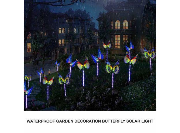 Butterfly Solar Power LED Light Outdoor Garden Lawn Lamp Decor Fairy Light Garden Butterfly Gardening Decoration Accessory