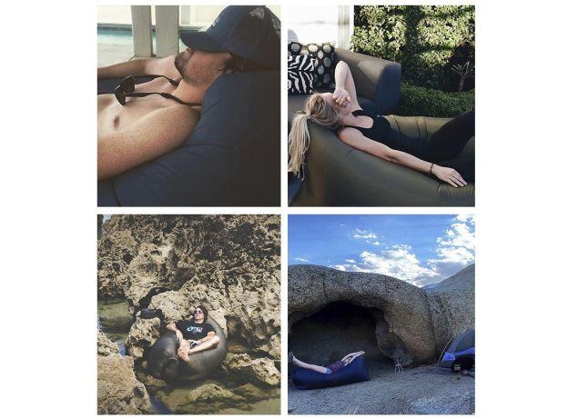 Camping Beach Mat Urlight Air Mattress Bed Women Lazy Inflatable Sleeping Sofa Mat Men Outdoor Folding Mats